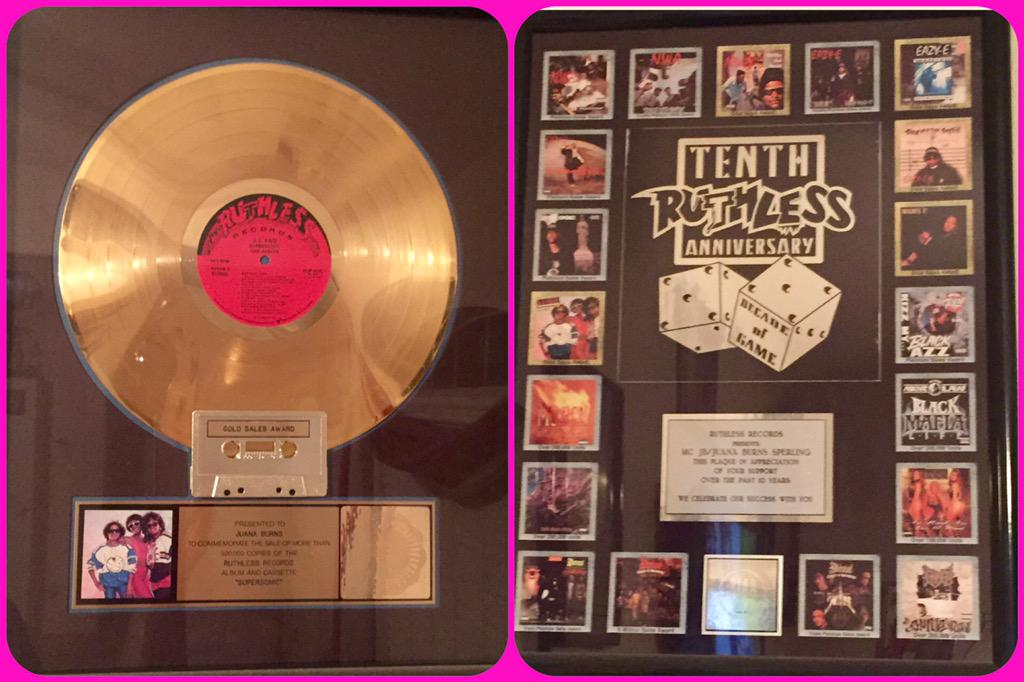The FIRST Gold Album on Ruthless Records #jjfad #ruthlessprincesses #canterasehistory ruthlessfamforlife http://t.co/qniBjYUNKe