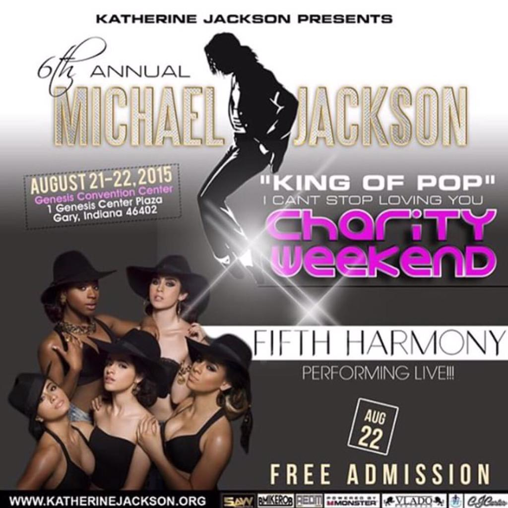 We just added @FifthHarmony to the 6th Annual @MichaelJackson Charity Event! FREE!! #MichaelJackson #SimonCowell http://t.co/pObx3RYj6Y