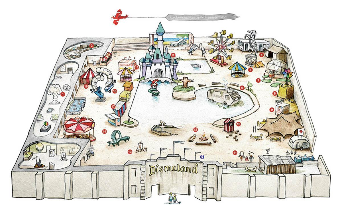 Tickets now released for #Banksy's #Dismaland 'Bemusement Park' in Weston Super Mare http://t.co/oHyOfYpfnu 22/8-27/9 http://t.co/wLQMW5KdBy