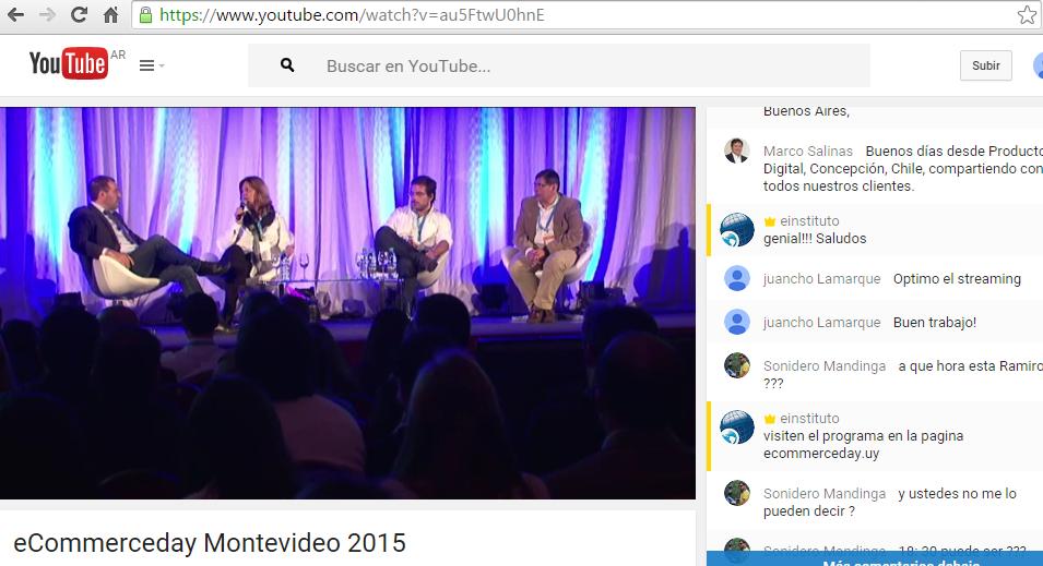 Un vistazo del streaming del @eCommerceDay #Montevideo ¿Quieren sumarse? >> http://t.co/Ss0WJJe9c3 http://t.co/p1x772la0B