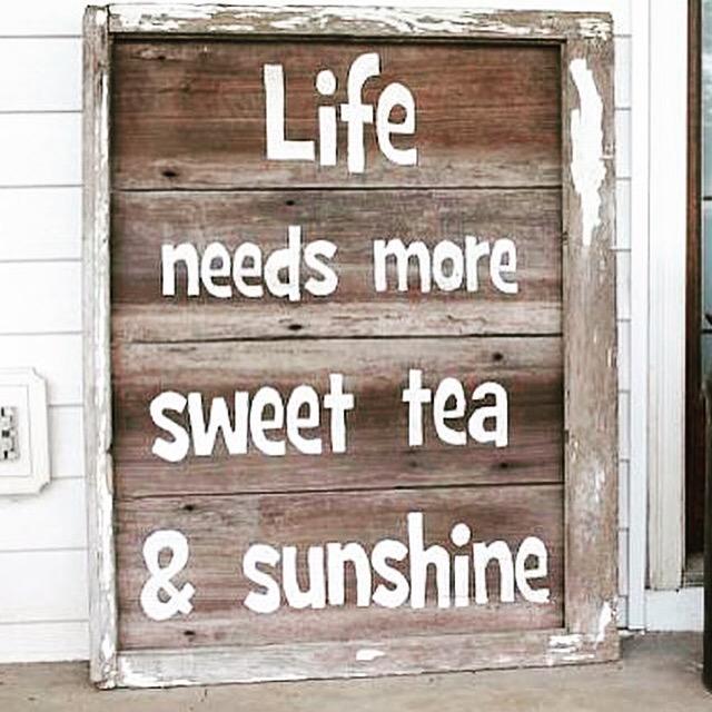Life needs more Sweet Tea & Sunshine... http://t.co/zPRxBMX0xs