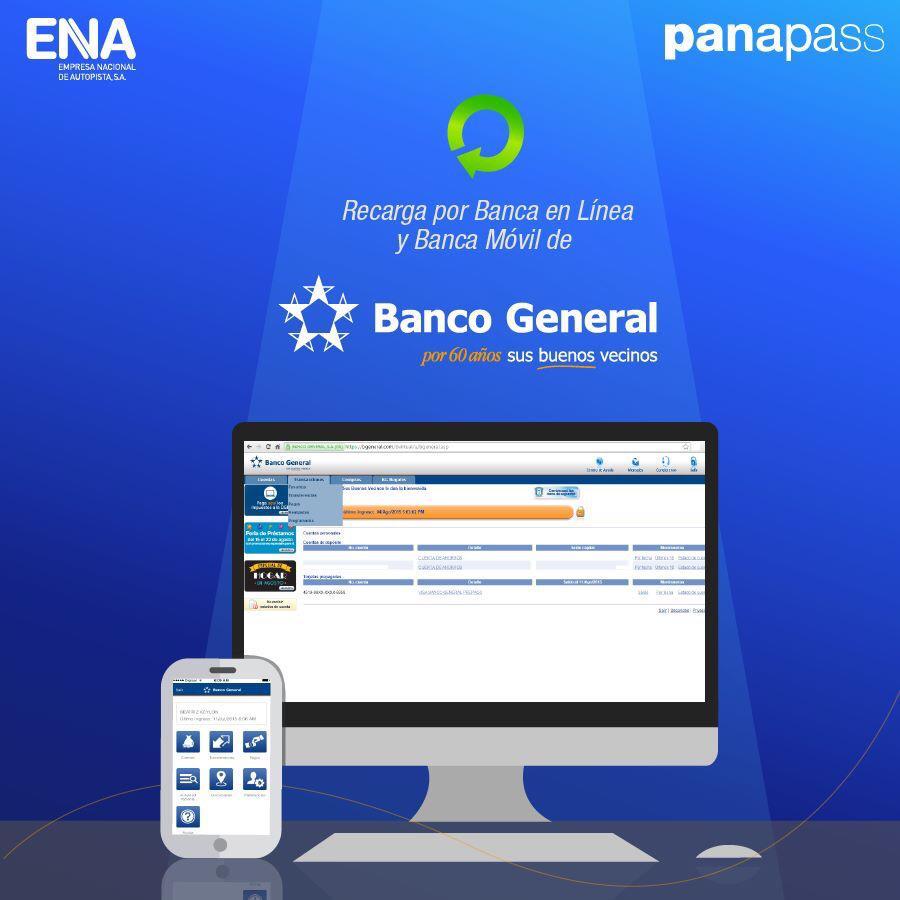 Ahora también puedes recargar por Banca en Línea y Banca Móvil de Banco General, mira cómo: http://t.co/YPmyLl4rP9 http://t.co/wgHuceD4Jm