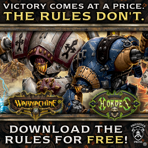 Privateer Press Makes Warmachine/Hordes Rules Free Online - http://t.co/bLp0Z54a5V http://t.co/KOEGKeKyZL