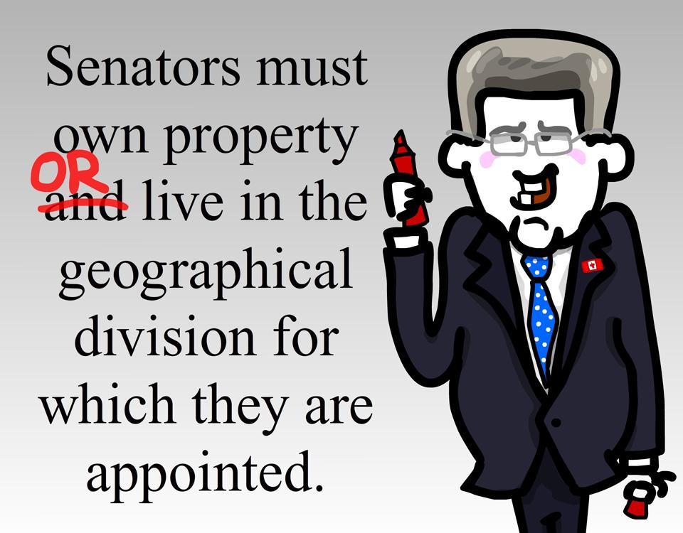 How to interpret the Canadian Constitution. #Duffy #Perrin #cdnpoli #elxn42 #pmsh #canada #cartoon http://t.co/sXY1dKU7Os