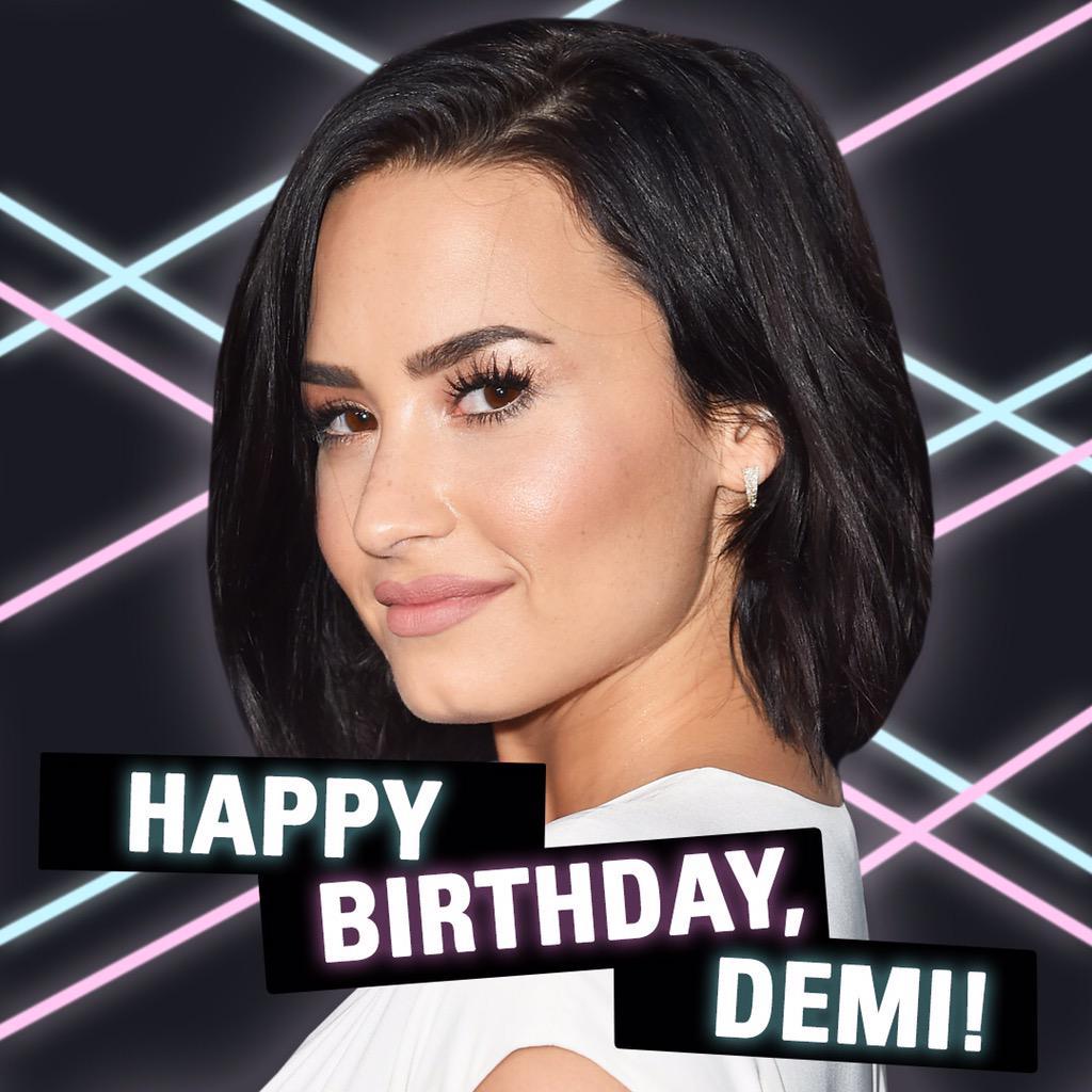 Happy birthday @ddlovato!!