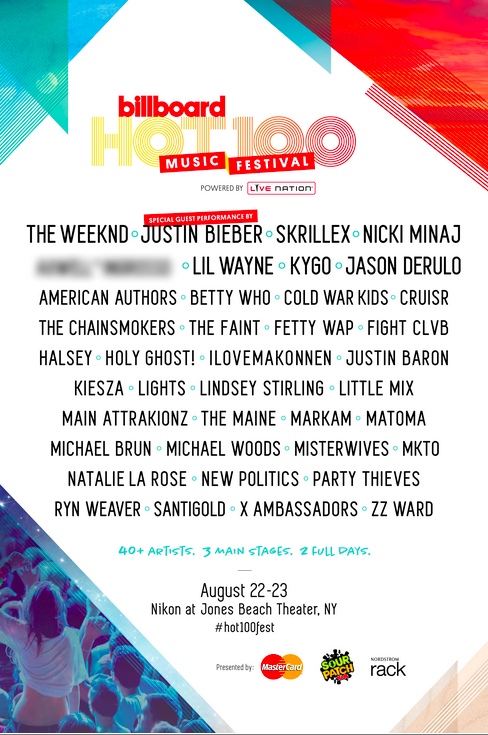 Contest: Retweet & @ 2 friends who don't follow us if interested in FREE tix to the Billboard Hot 100 Fest! http://t.co/t4zUrRV3Mv