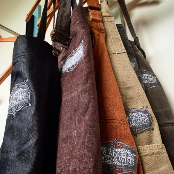 We're giving away the official #LAFoodWine aprons made by @Chef_Works & tickets! RT to ENTER! Contest ends tomorrow http://t.co/rp881XDRv2