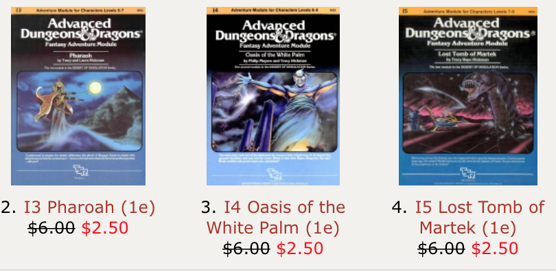 Huge and awesome sale of #dnd adventures in PDF. A lot of great adventures are $2.50 a piece! http://t.co/zWnfrEAcpD http://t.co/2YRpuBUyZy