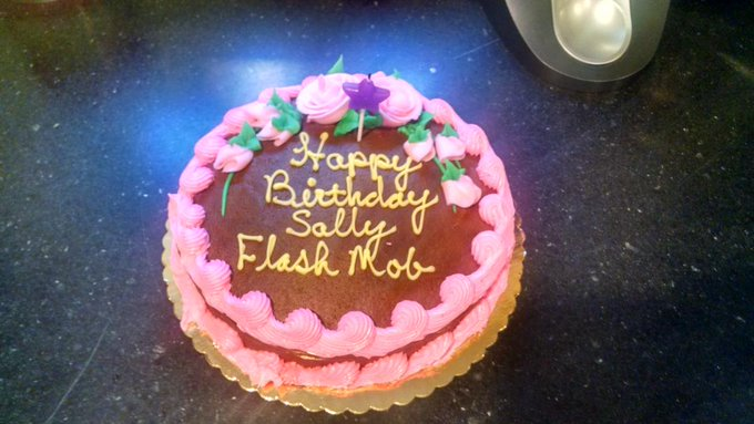 """This was supposed to say \""""Happy birthday Sally-slash-mom.\"""" Actually kind of like this better."""
