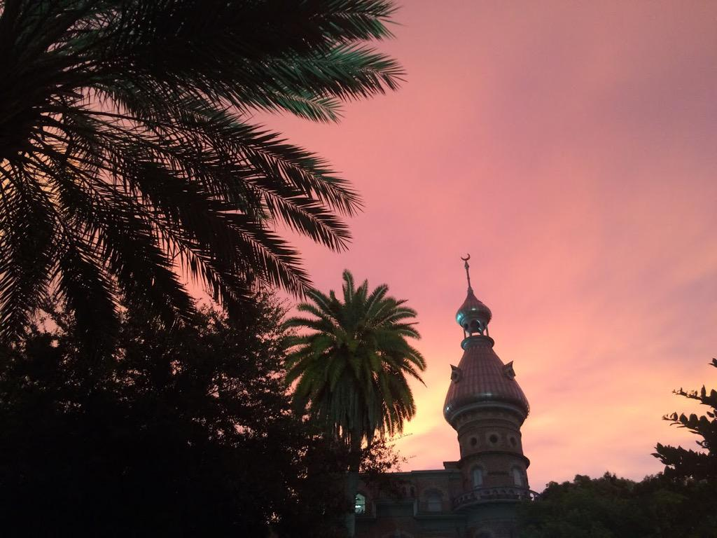 Amazing sky last night! #nofilter #sunset #Utampa #thunderstorms http://t.co/E1VlNrGGxM