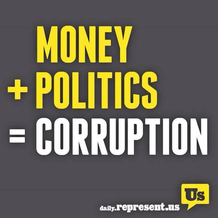 Money + Politics = Corruption. #Corruption #RepresentUs http://t.co/l3VjDiVwm7