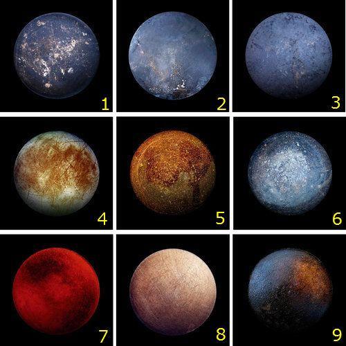 む、むずかしい…!: この中に1つだけ木星の衛星「エウロパ」がある、それ以外は全部「フライパンの底」…見分けがつく? http://t.co/38SJuAur6P http://t.co/xwb02GMoYD