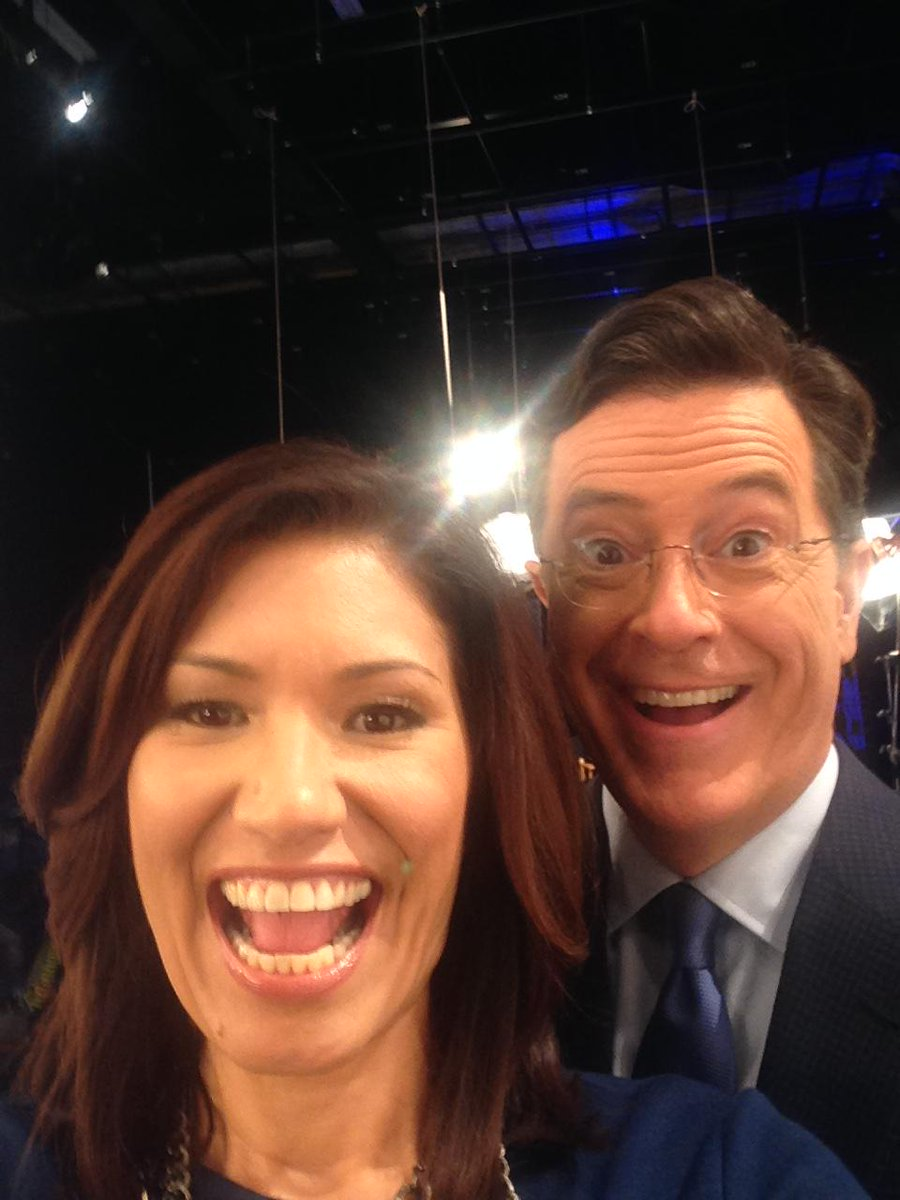 Getting selfie tips from @StephenAtHome.  Can't wait for his late show Sept. 8th! http://t.co/kjOT4Rc0wz
