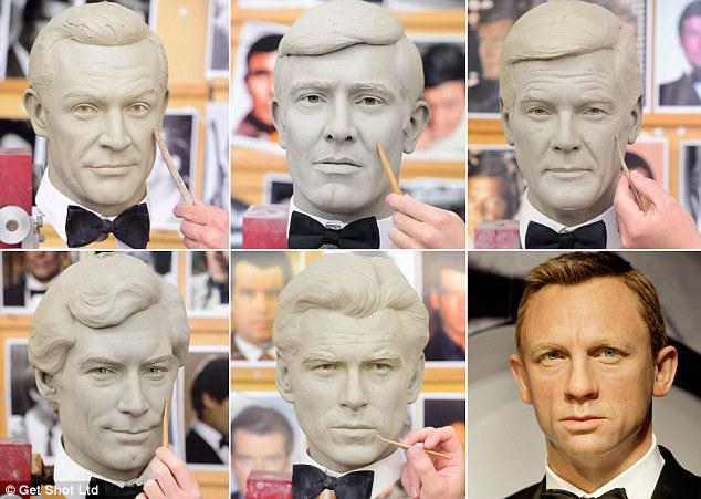 По случаю релиза фильма «007: СПЕКТР» в лондонском музее мадам Тюссо появятся фигуры всех исполнителей ролей Бонда http://t.co/aqU9MUMACu