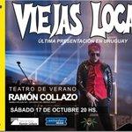 """Viejas Locas """"Despedida de Uruguay"""" en @teatrodeverano: 17 oct; 20:00hs #entradas @AbitabOficial http://t.co/w8CmDxkp4k"""