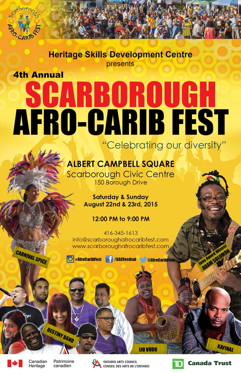 AFRO-CARIB FEST THIS Sat&Sun12-9pm @MichieBadgalMee @MCBonde1 from @G987FM akaThe Voice of Africa will be your hosts! http://t.co/LMR2zOtr6n