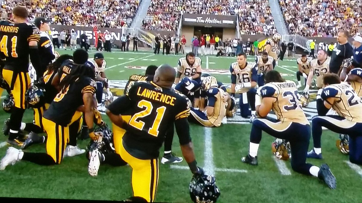 Football....the physical battle of the sport gives way to respect of the opponent. #CFL #WPGvsHAM http://t.co/0iSDfdqgZv