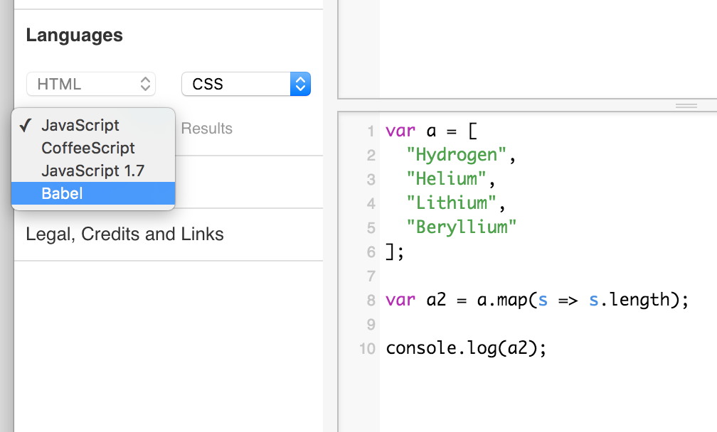 You can now use ES6 (via @babeljs) in JSFiddle. http://t.co/Y50HRlpi2E