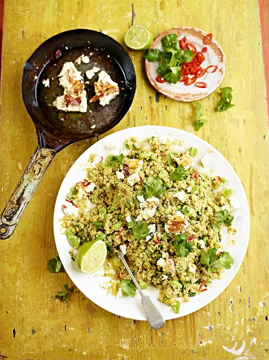 guys #recipeoftheday is new one for you all. Quinoa, feta & broad bean salad! #meatfreemonday http://t.co/LMoFxmmL5B http://t.co/BCtui2woET