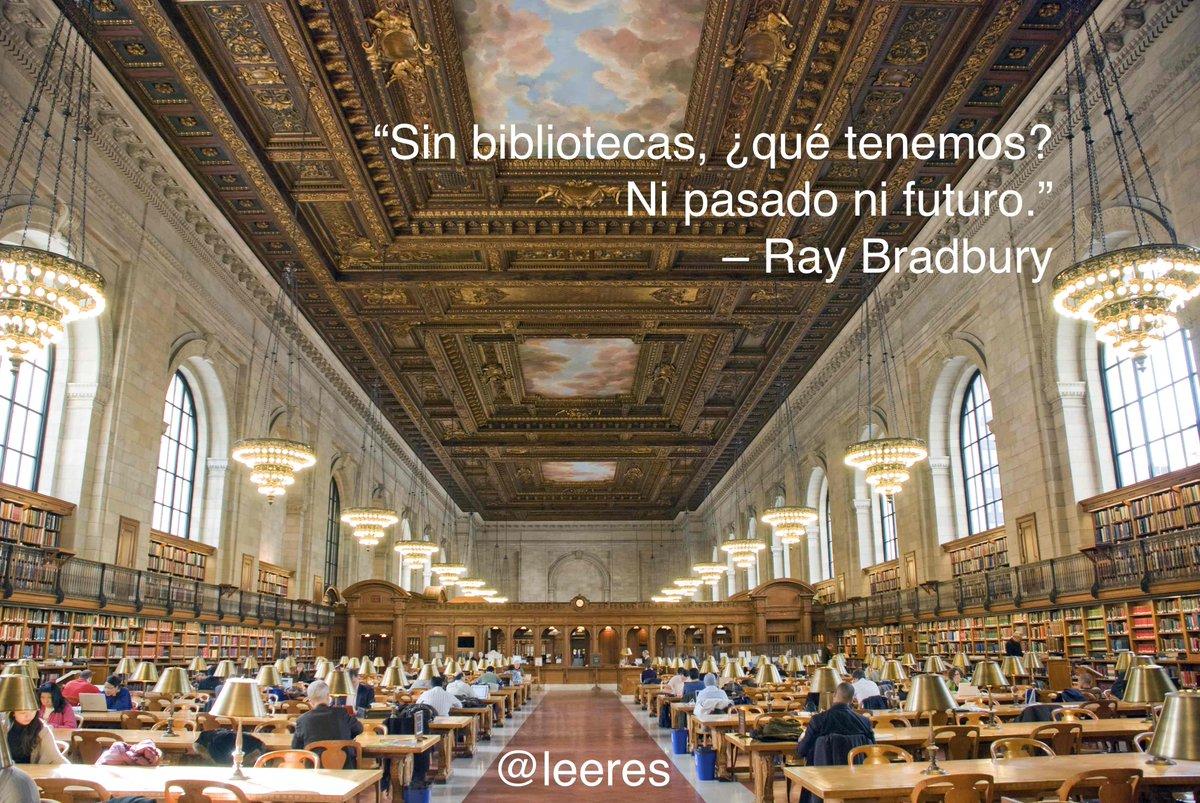 """""""Sin bibliotecas, ¿qué tenemos? Ni pasado ni futuro."""" – Ray Bradbury #biblioteca http://t.co/yOsKEcPF4k"""