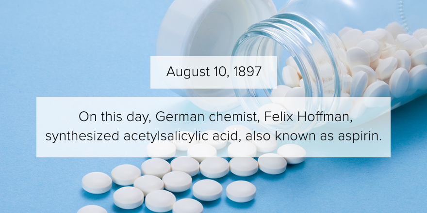 118 years ago today, aspirin was synthesized. http://t.co/QKH6S5QsfF