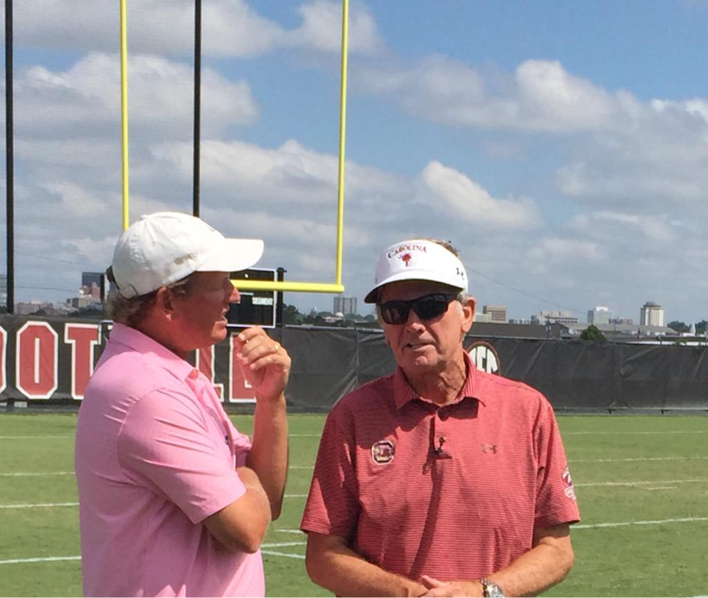 Great to be with the Head Ball Coach again.  He's as fired up as he's ever been. #SeeTheSEC http://t.co/liR2CEeGKv