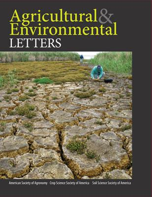 Announcing Agricultural & Environmental Letters, a new open access journal of ASA, CSSA, SSSA http://t.co/hCETZ3XiMg http://t.co/LCSH0rZLeg