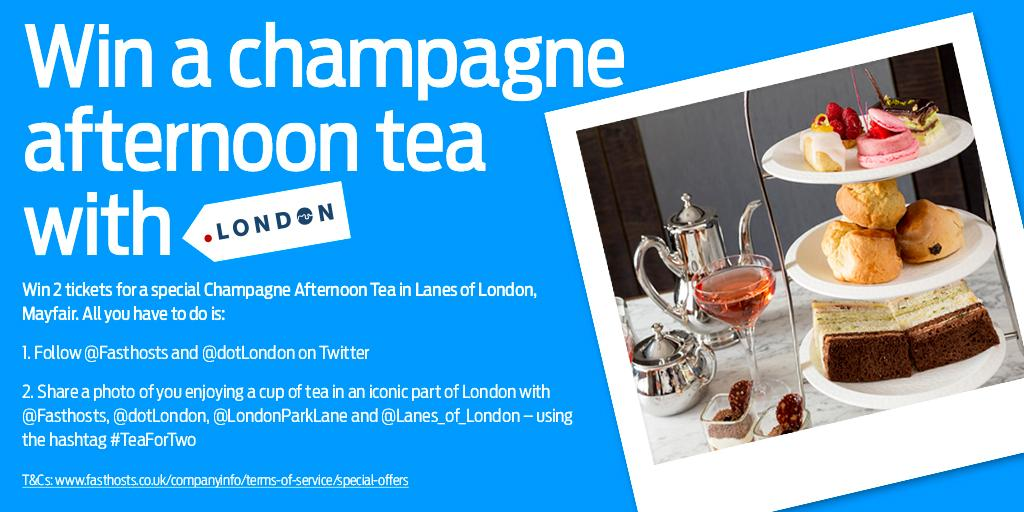Win #TeaForTwo with @Fasthosts, @dotLondon at prestigious @LondonParkLane @Lanes_of_London! #AfternoonTeaWeek http://t.co/4lDUrH79V9