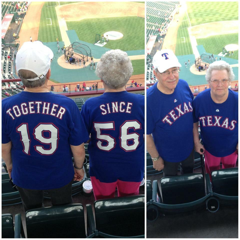 Happy anniversary to my folks! They are celebrating 59 years of marriage today! ❤️ @Rangers #Family http://t.co/UhbXbTLwmS