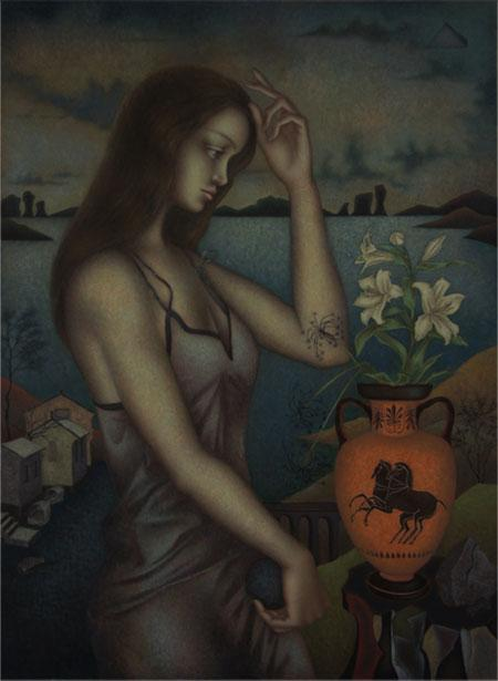 """Denis Bezmelnitsin - """"Amphora with White Lily"""": http://t.co/ZMExWD4NTs http://t.co/Lnq9VvLu5t"""