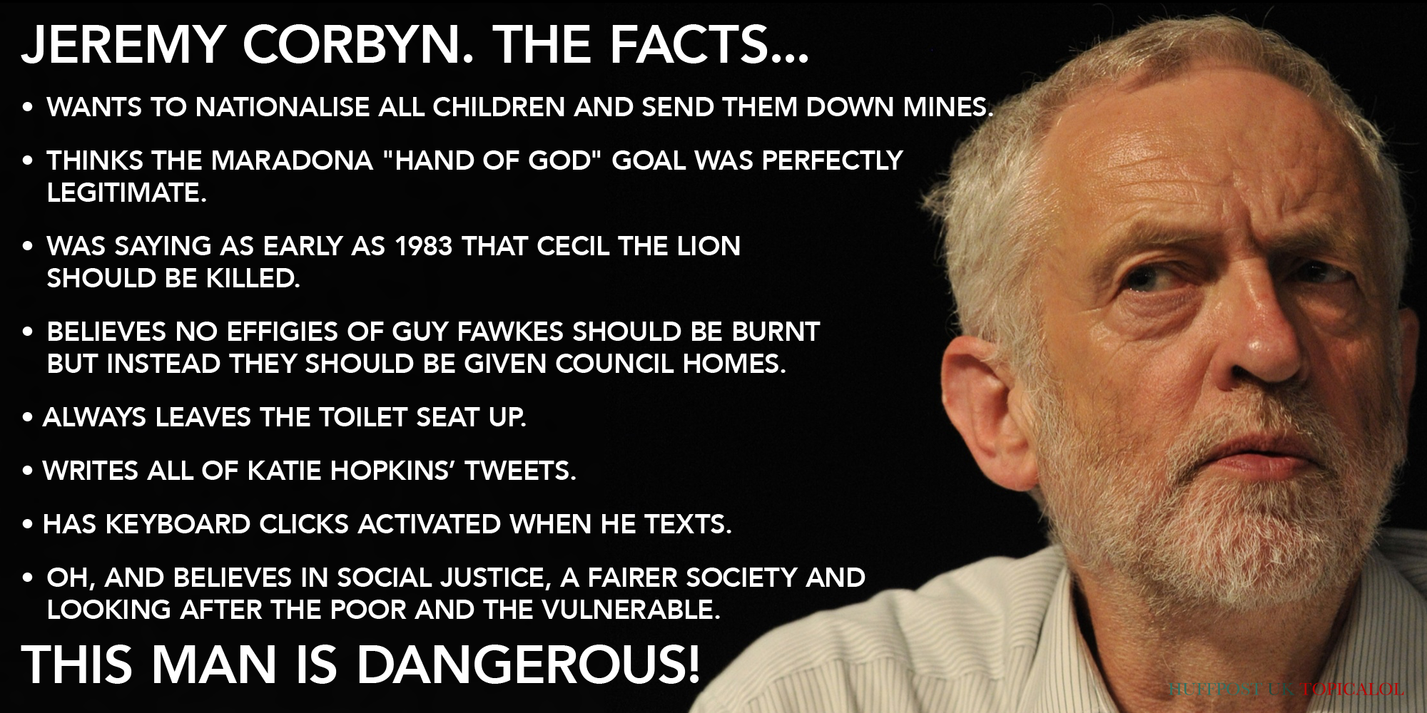 The facts about Jeremy Corbyn: http://t.co/d86XQwbYKm http://t.co/FwEzol5nIB