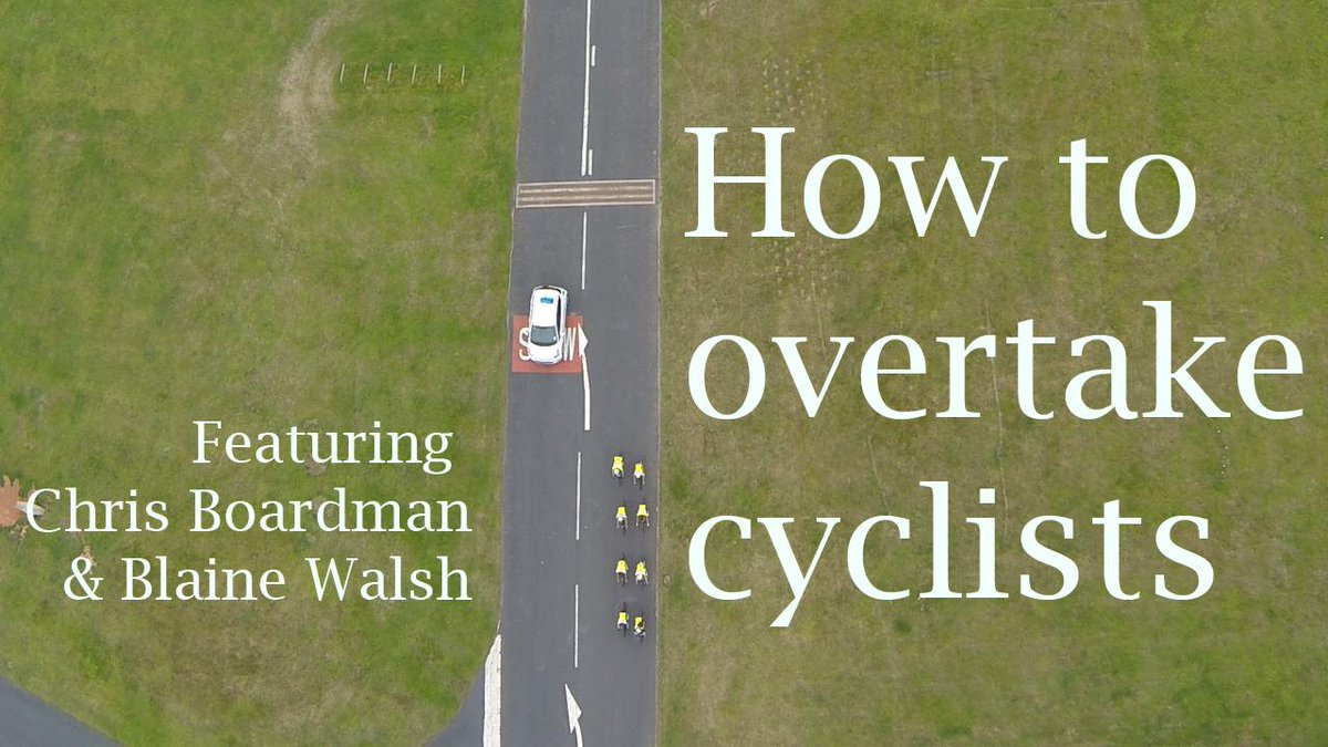 """SPACE """"How to overtake cyclists."""" https://t.co/v1b8IidkXa http://t.co/aTPknSaz1I be good if the DfT adopted this as a public info film..."""