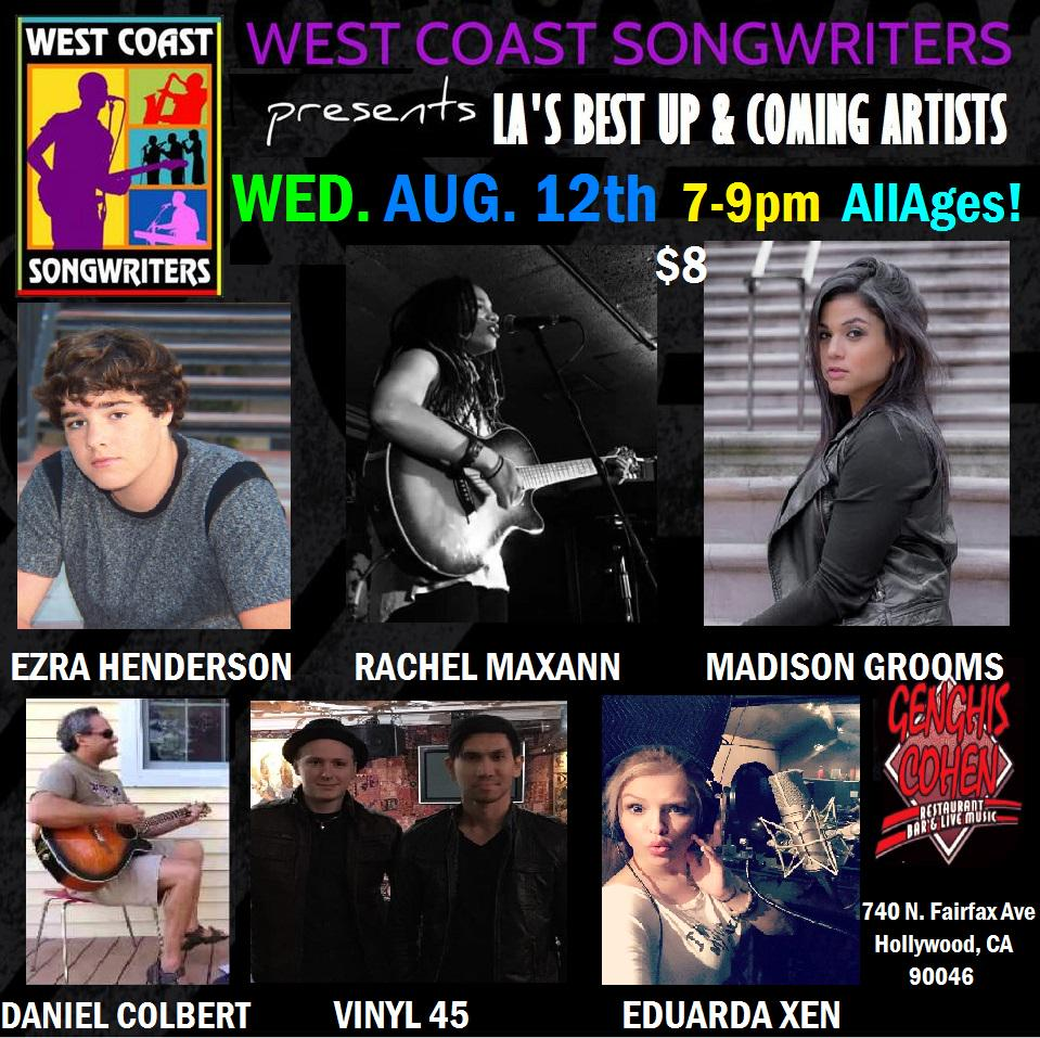 This Wednesday night Los Angeles!!!  @GenghisCohenLA @WCSong !! 7-9PM All Ages! $8 w/ @Ezra_Henderson & more! http://t.co/HnBZTPfF5U