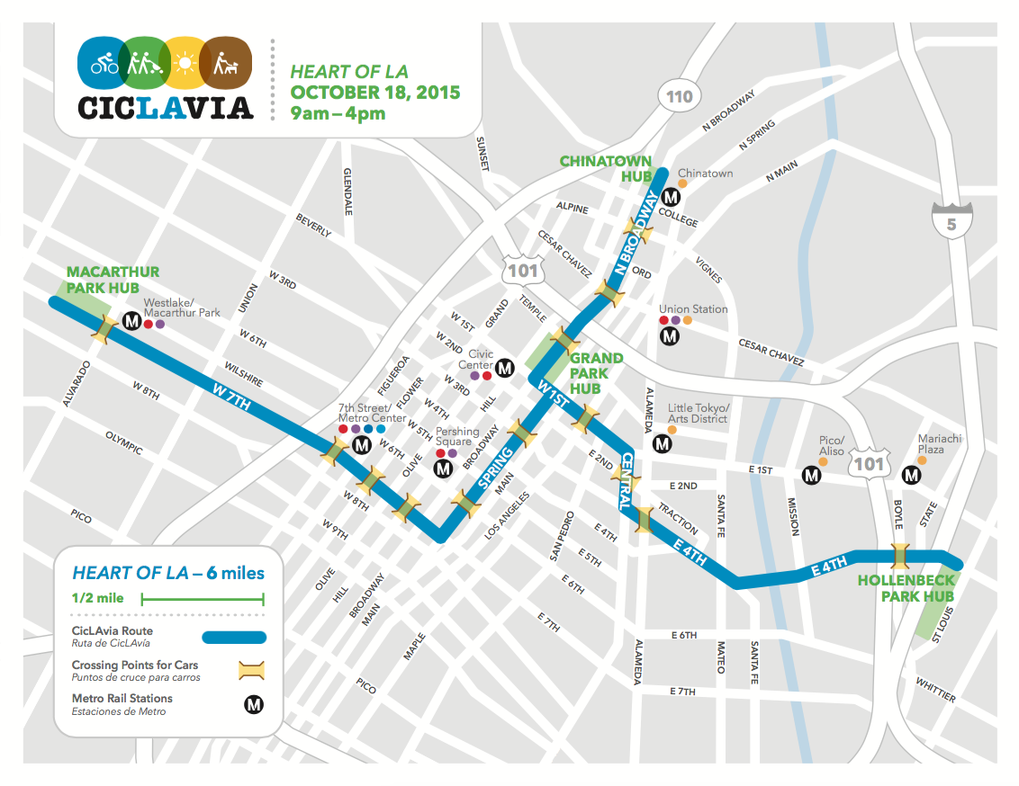 10/18/15 - #CicLAvia comes to the heart of #LA. Mark your calendars for our fifth anniversary route! http://t.co/Exy8nEUdMr