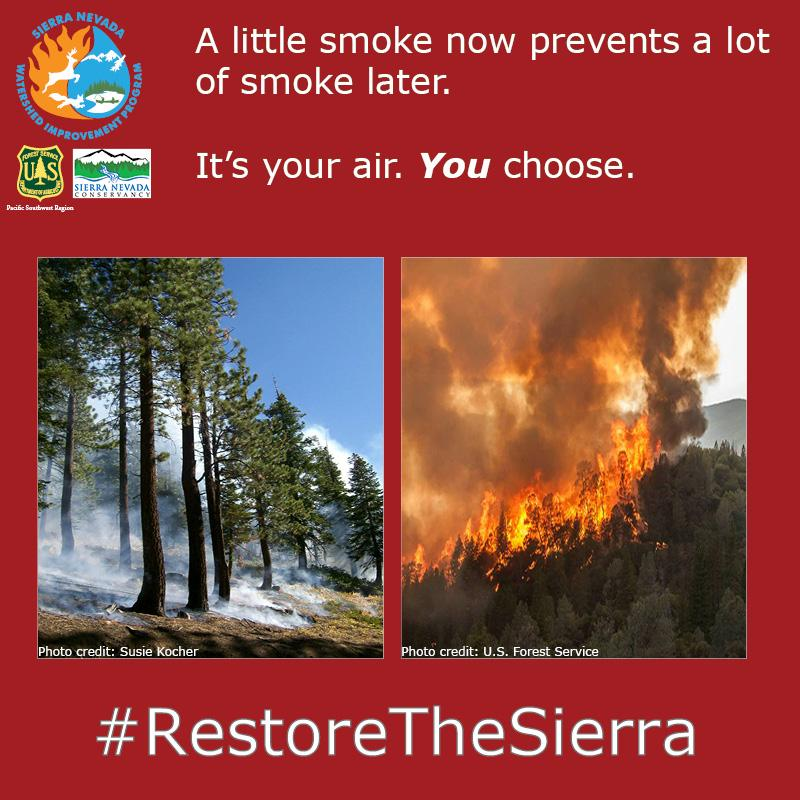 Low intensity fire is part of the ecosystem; while large fires can cause massive destruction. #savethesierra #cawater http://t.co/ypplVFi3JH