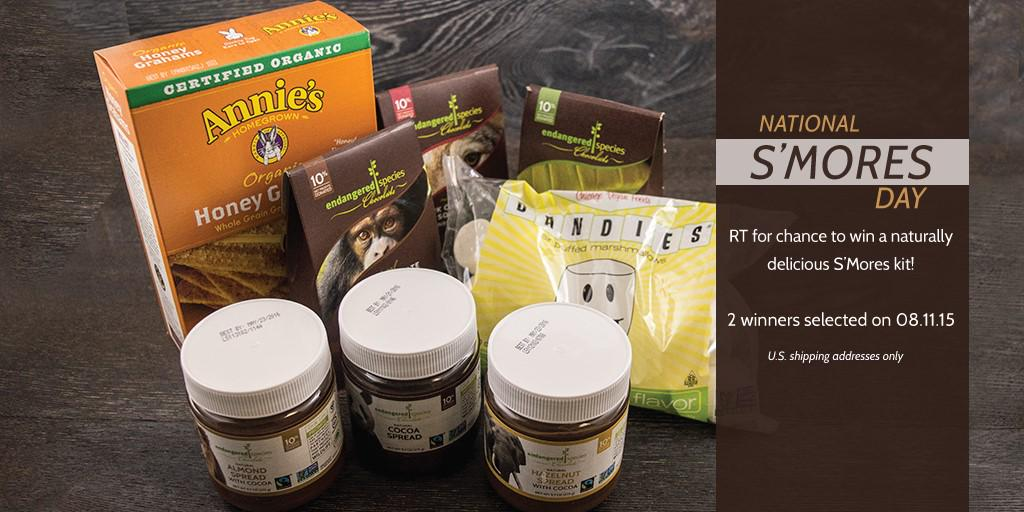 One S'more chance! RT 4 chance to snag #NationalSmoresDay kit featuring @ESC_Chocolate @MyDandies @annieshomegrown http://t.co/DShtDHBFQp