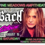 We are LIVE @ Irvine Meadows Ampitheatre THIS SATURDAY @ Cathouse Live! See u at the show! @bjarzombek @RikiRachtman