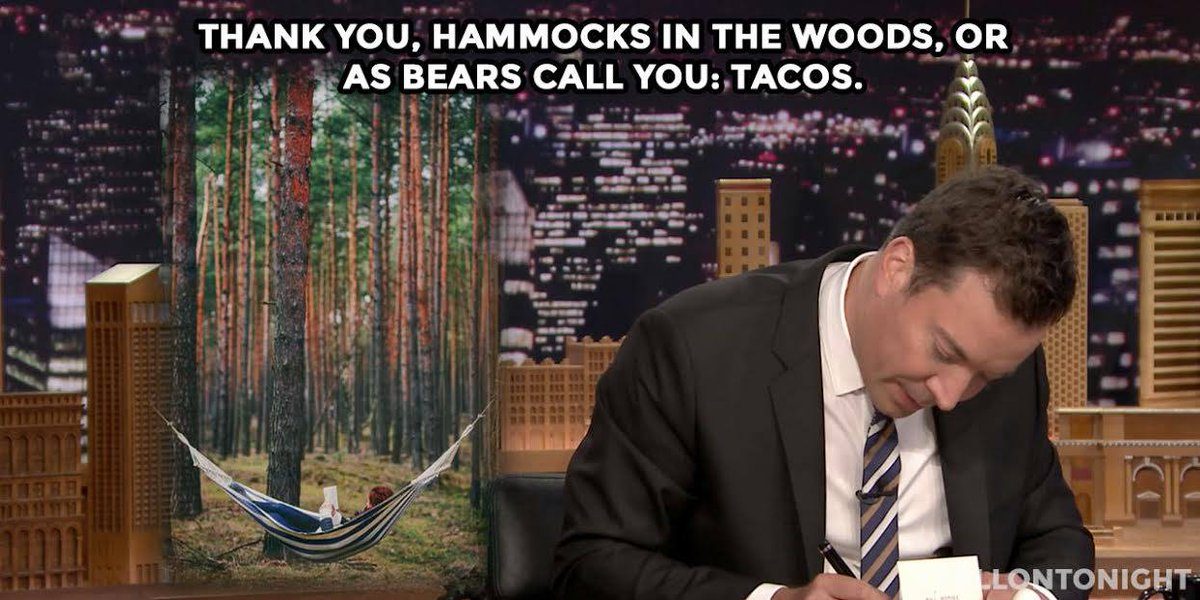 It's time for me to bring our hammocks to @jimmyfallon for a hammock/taco/bear showdown!  RT & help us tell Jimmy! http://t.co/U2JV301yaK