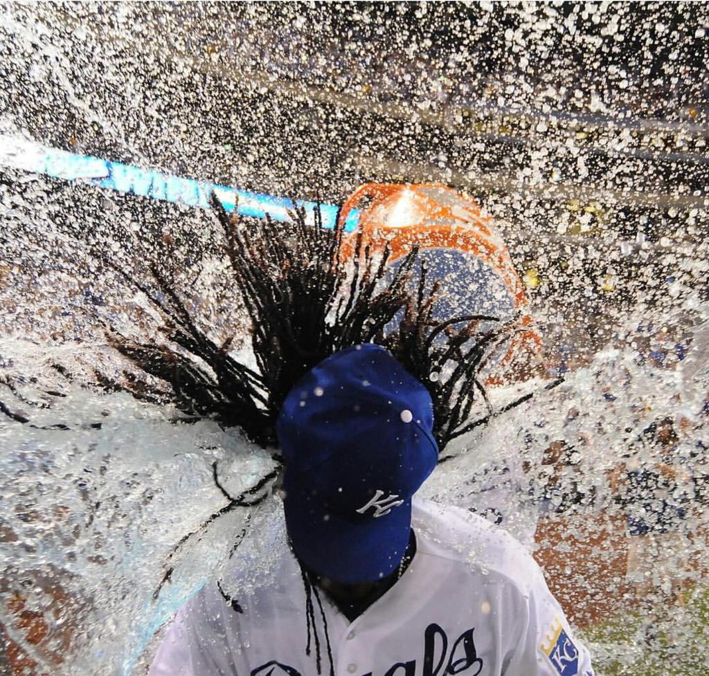 The photo of Cueto getting the Gatorade bath is also the hottest mixtape cover of 2015 http://t.co/tKUvAojLNH