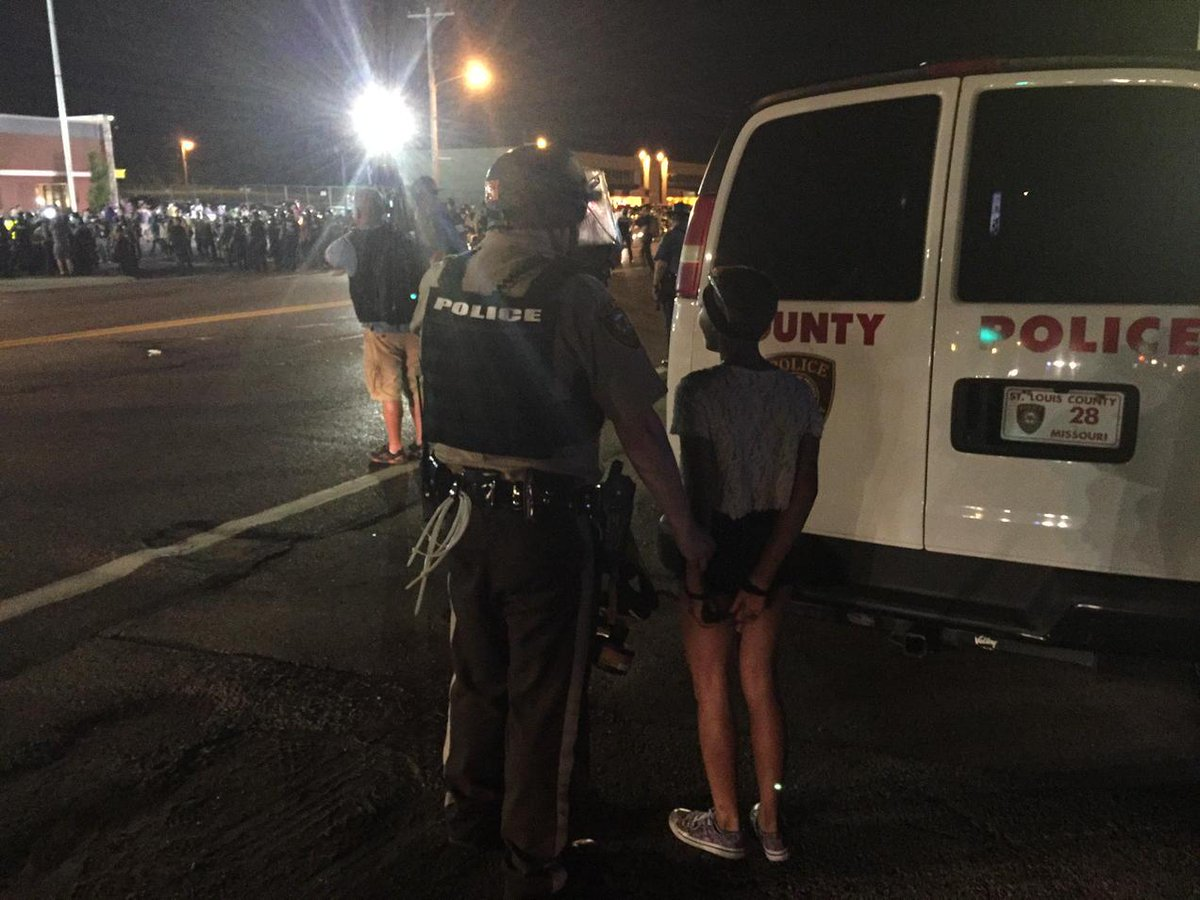 Wow RT @TheAnonMessages: BREAKING: 12-year old girl arrested. #Ferguson http://t.co/M8EE4HqkTF