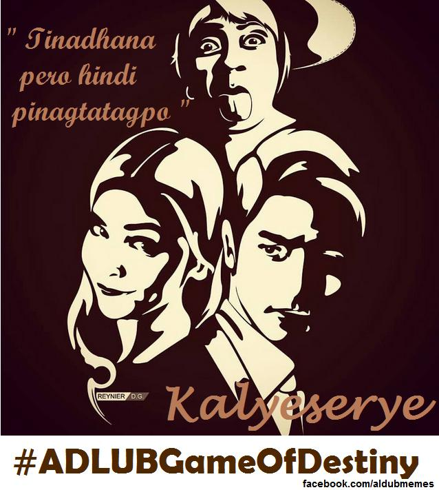 Excited nba kayo sa Kalyeserye mamaya? Don't forget to use the OFFICIAL HT today #ALDUBGameOfDestiny http://t.co/Y2NOTwkHOp