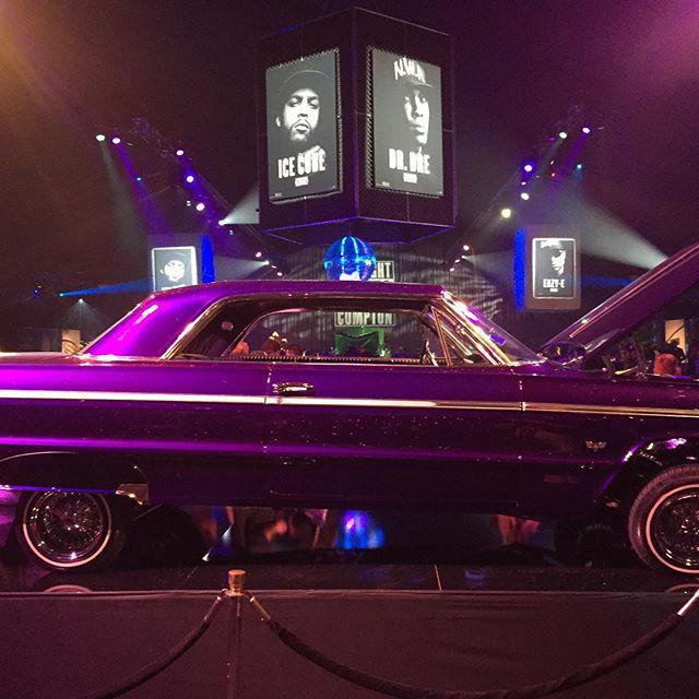Rolling in my 64. #straightouttacompton world premiere party. http://t.co/DRKWMp9o3K http://t.co/R9JvZ15AU2