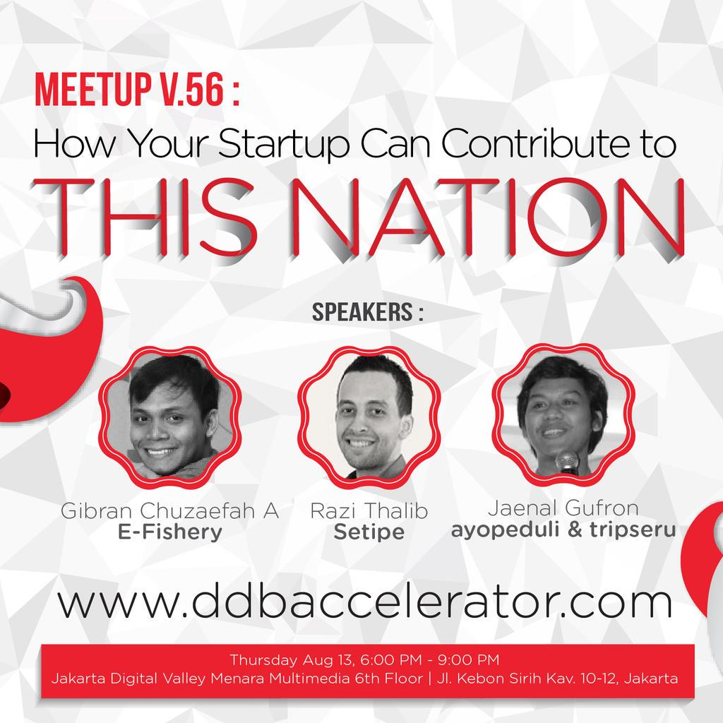 Join us at @StartupLokal #meetup56 with @gibranwow @RaziThalib @jaynael this Thursday! RSVP: http://t.co/tVjrcGd1v6 http://t.co/1IGWrh03tX