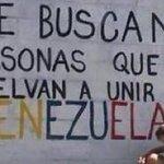 """""""Se buscan personas que vuelvan a unir a #Venezuela. Vía @VeneIdeal https://t.co/qPUC6yCPa8 https://t.co/qjiwWPE1z8"""