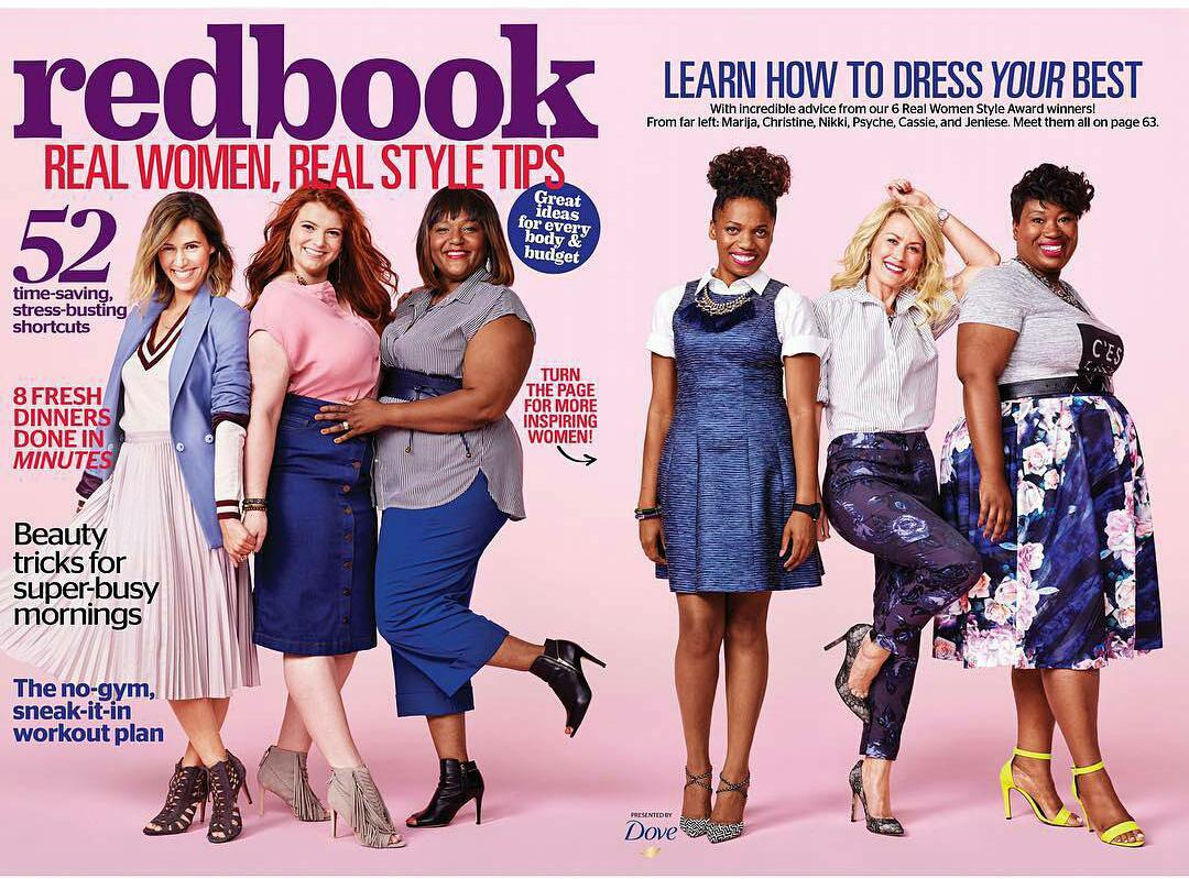 I'm so exited to be one of @redbookmag Sept cover stars! It's all about #realstylerealbeauty #thisisrealstyle @Dove http://t.co/BNbS9Gg7Bm