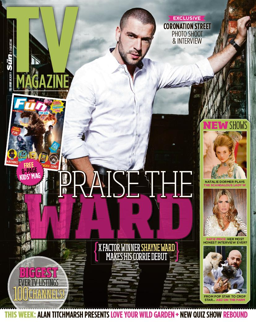 As promised – here's the man himself. Welcome to those @itvcorrie cobbles, @shayneTward #AidanConnor #Corrie http://t.co/8YwaUtzqYF