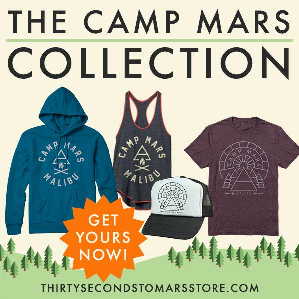 RT @30SECONDSTOMARS: The @MarsStore's bringing #CampMars to YOU. See the new Limited Edition Collection right here: http://t.co/MMNI0cgAkX …