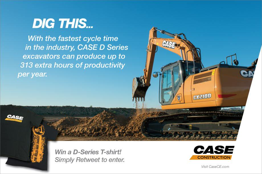 "FREE T-shirt Tuesday is back! Retweet & enter to win ""The Rules Have Changed"" shirt featuring our D-Series excavator! http://t.co/pOF2q2Iqfx"