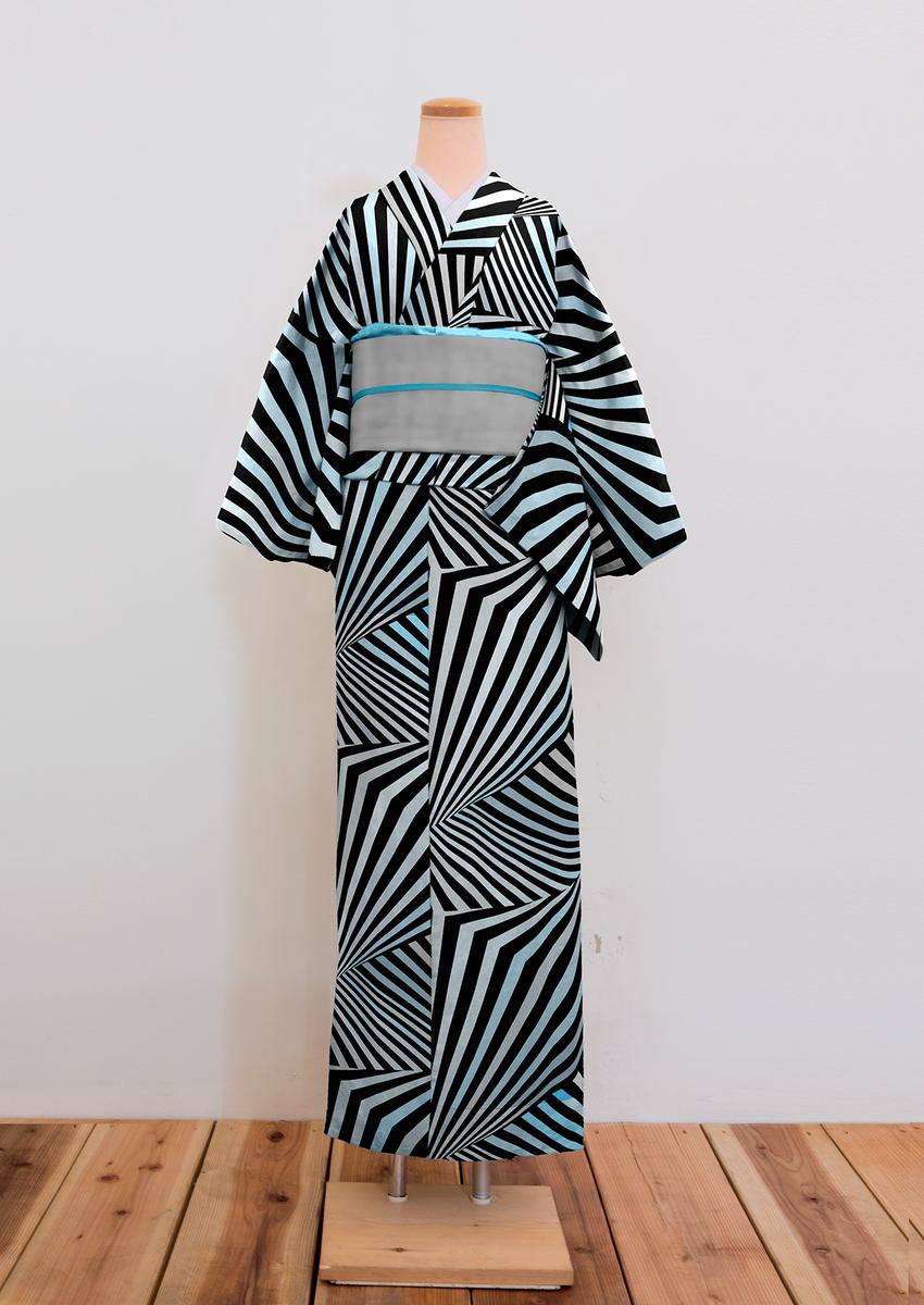 で、ちょっと着物作ってみたんだけどイケてるかも。 ダズル迷彩はwikiによると距離感やカタチを分かりにくくするために開発されたカモフラージュ柄。着物にしてもいろいろメリットがあるかもしれません。 #kimono http://t.co/yCjBMpRH9F