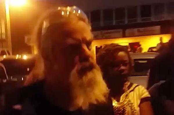 Watch veteran confront Ferguson protester doing THIS with American flag (strong